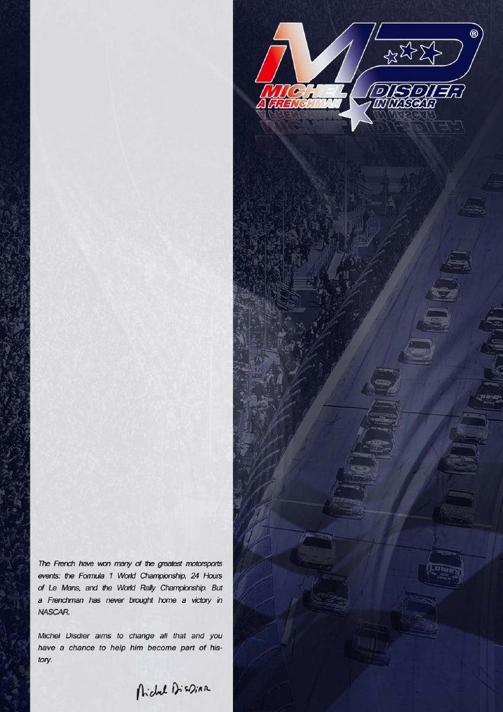 Sponsorship presentation michel disdier 2010 NASCAR