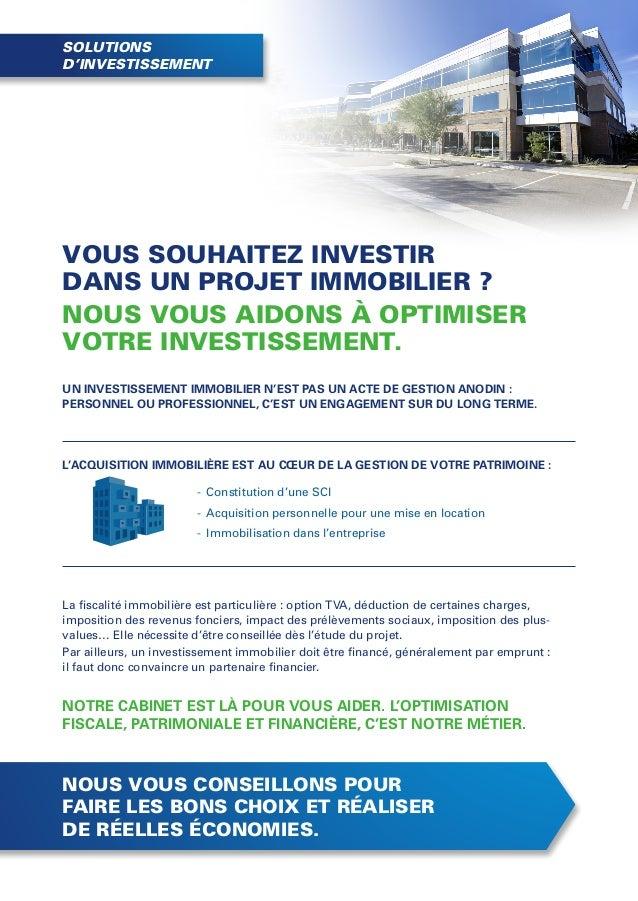 Plaquette mission investissement immobilier