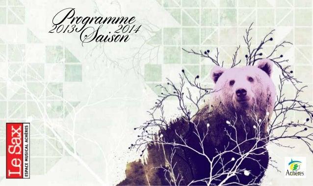 Programme de la Saison 2013-2014 du Sax
