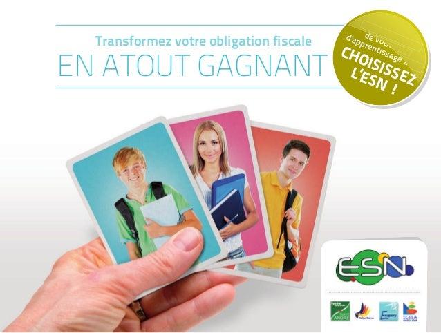 TAXED'APPRENTISSAGE2015 L'ENSEMBLE SCOLAIRE NIORTAIS EST COMPOSÉ DE : • L'école maternelle et primaire Sainte-Thérèse Sain...