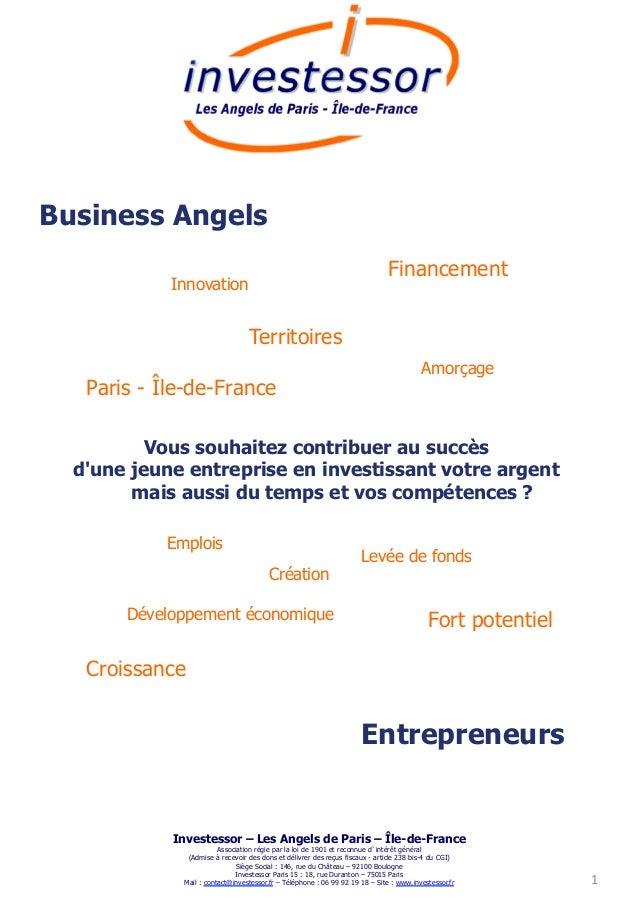 Business Angels                                                                             Financement            Innovat...