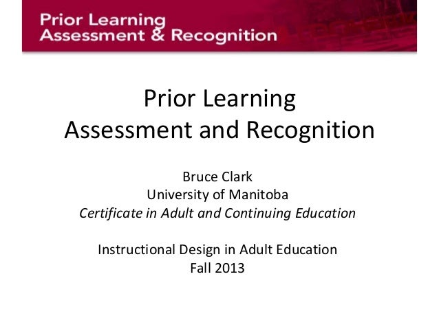 Introduction to Prior Learning Assessment and Recognition