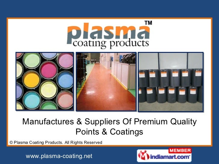 Manufactures & Suppliers Of Premium Quality Points & Coatings