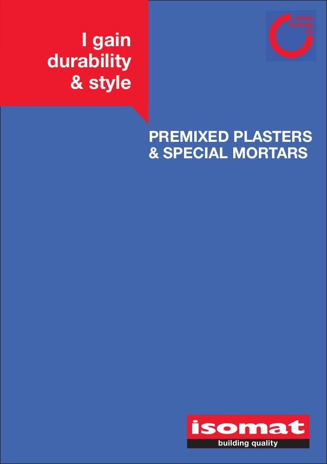 ISOMAT_Plasters & mortars
