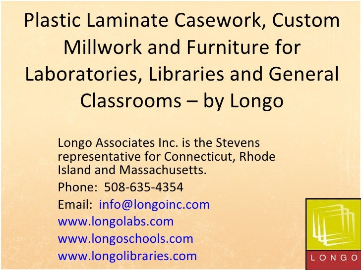 Plastic Laminate Casework, Custom Millwork and Furniture for Laboratories, Libraries and General Classrooms – by Longo Lon...