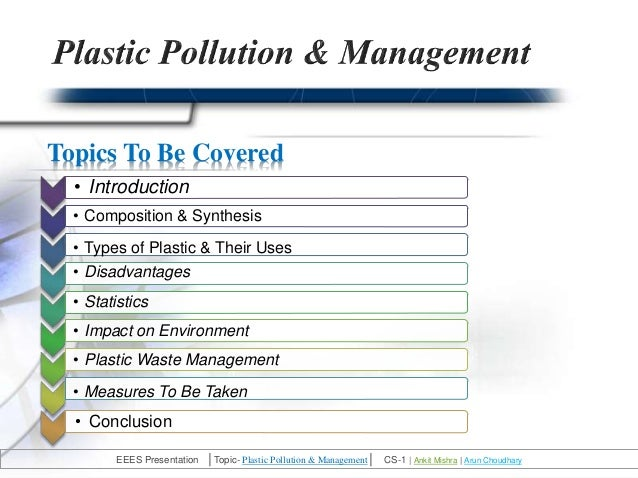 elocution demerits of plastics What are the advantages and disadvantages of manufacturing of plastic bags  some disadvantages of using plastics are that they pollute the environment, pose a .