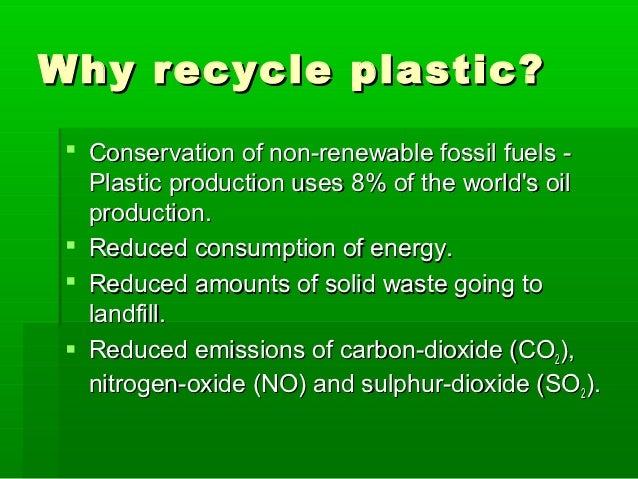 Plastic recycling starter