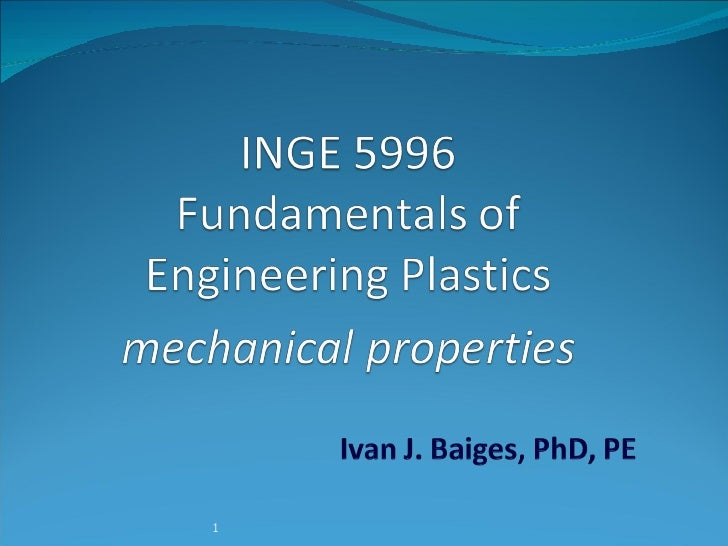 Plastics   Mechanical Properties