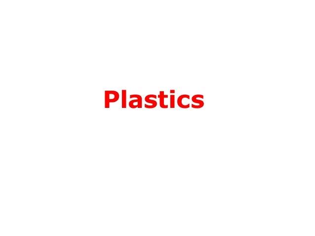 Plastics polymerisation