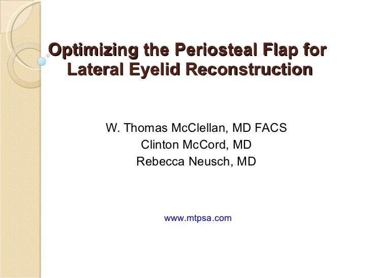 Periosteal Bone Flap Lateral Canthal Reconstruction