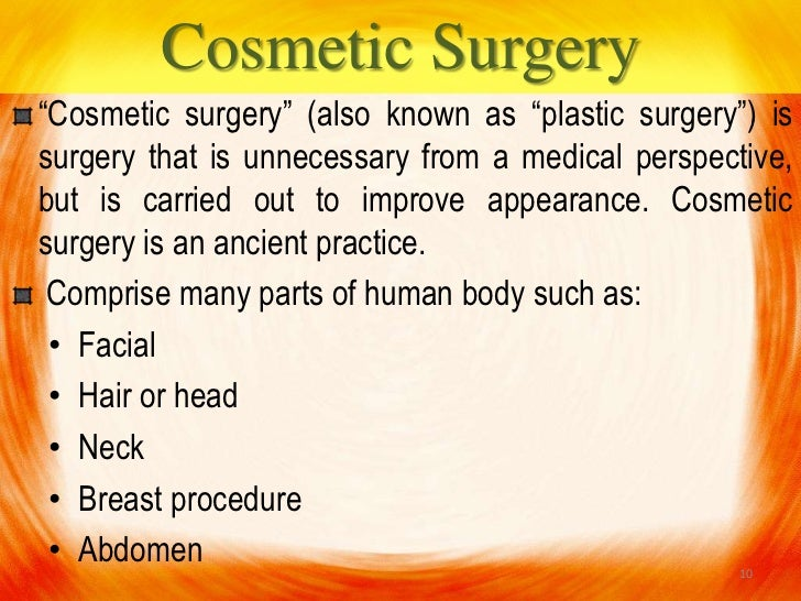argumentative essay about cosmetic surgery