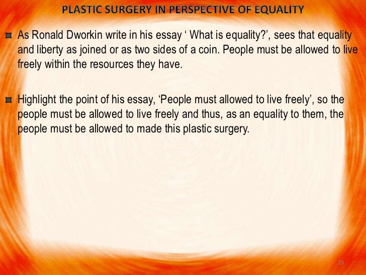 essay on plastic surgery