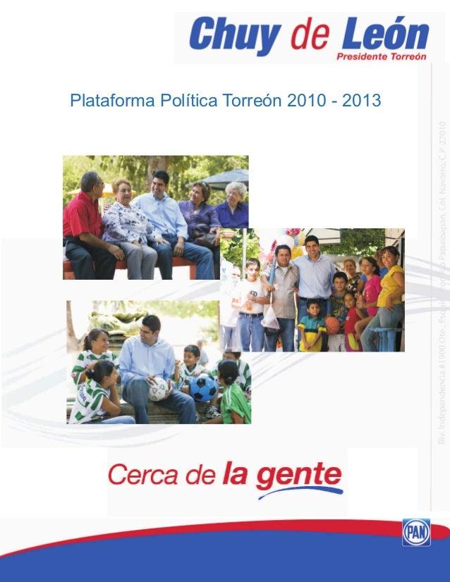 Plataforma Política Torreón 2010 - 2013