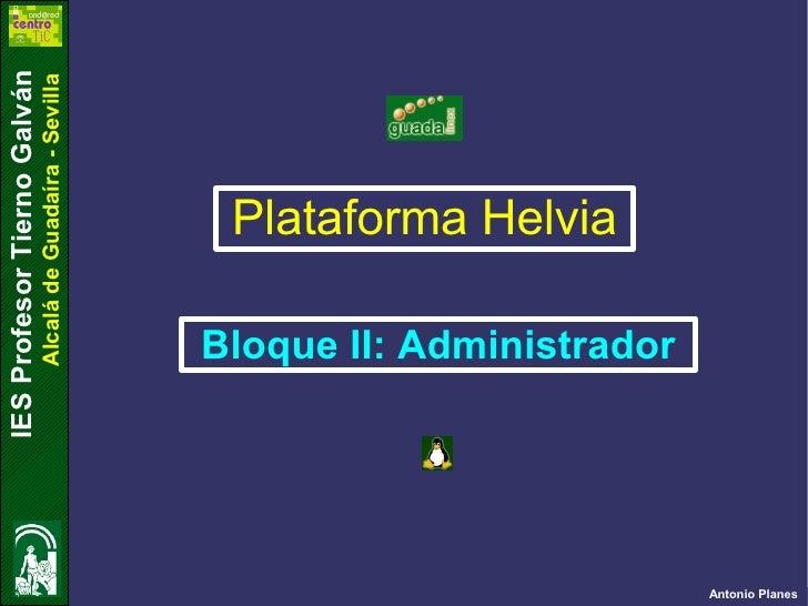 Plataforma Administrador Internet