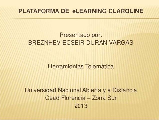 Plataforma claroline