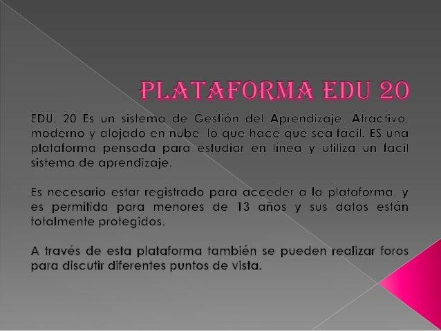 Plataforma edu 20