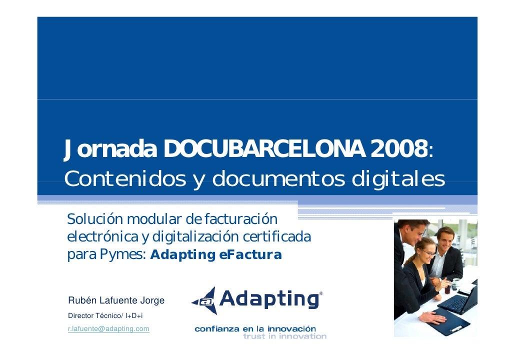 Plataforma de Facturacion Electrónica.Docubarcelona 2008