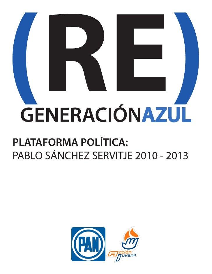 PLATAFORMA POLITICA (RE)GENERACIÓN AZUL