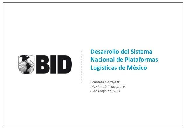 Sistema Nacional de Plataformas Logisticas (Mexico)