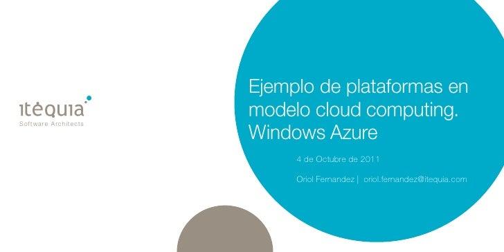 Plataformas on the cloud   windows azure