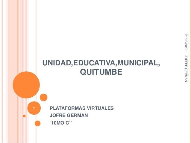 21/03/2013                                  JOFFRE GERMAN    UNIDAD,EDUCATIVA,MUNICIPAL,                 QUITUMBE1    PLAT...