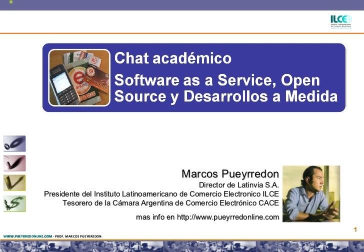 Software as a Service, Open Source y Desarrollos a Medida en el eCommerce y los negocios por Internet