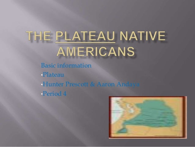 Plateau Native Americans