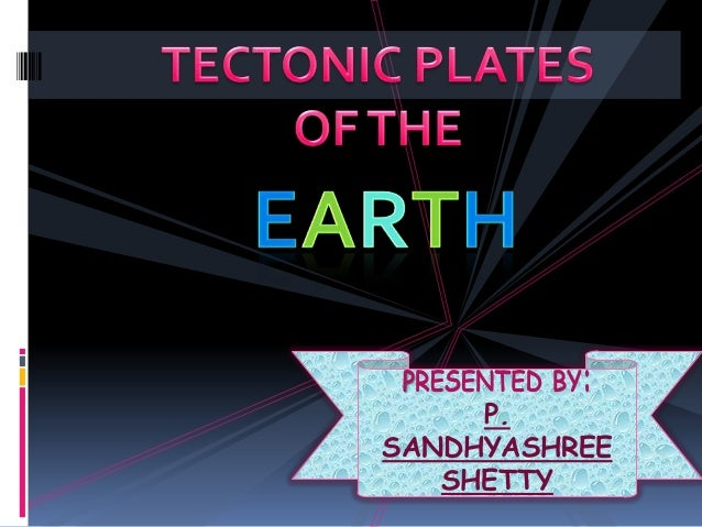 Plates of the earth