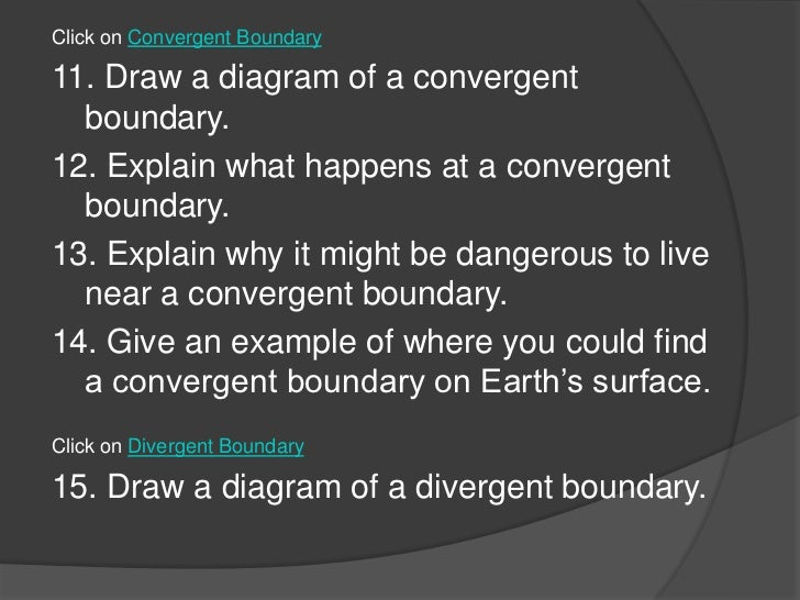 Convergence Diagram Draw a Diagram of a Convergent