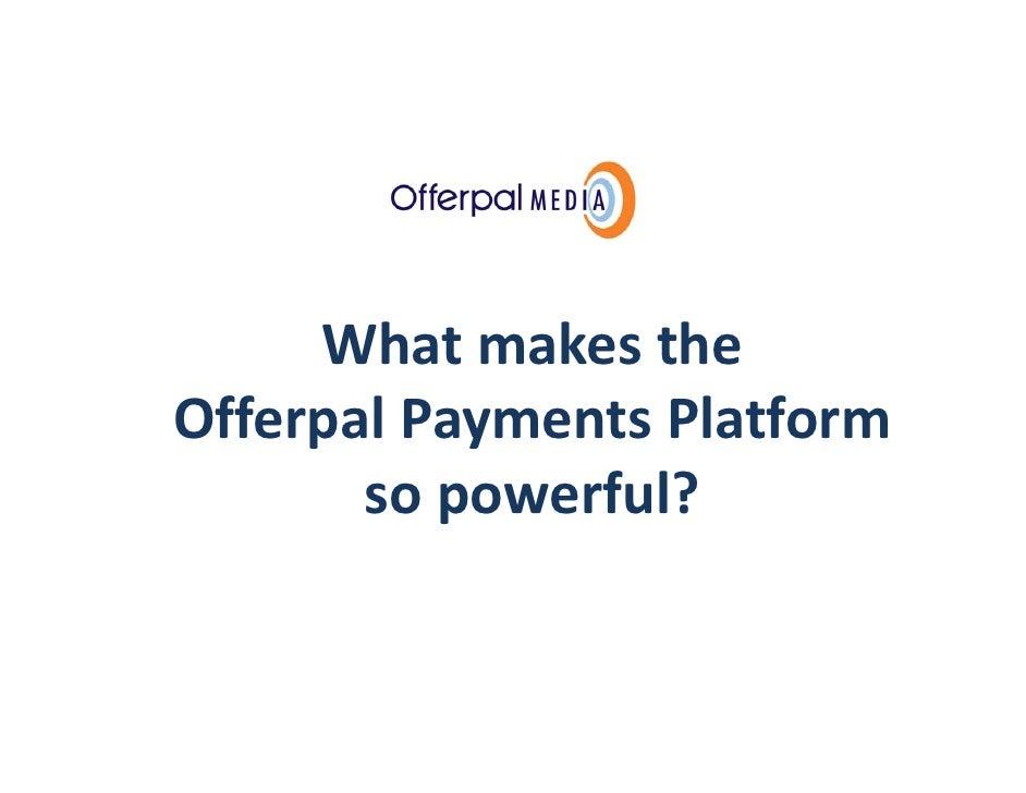 Offerpal Platform Capabilities Deck