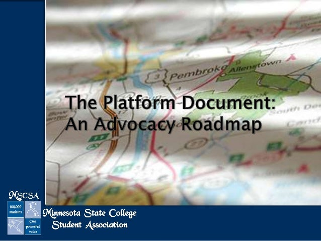 The Platform Document: An Advocacy Roadmap