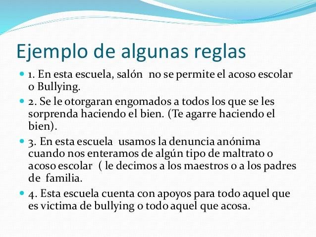 Platica contra el bullying ni os de la escuela josefa for 10 reglas para el salon de clases en ingles
