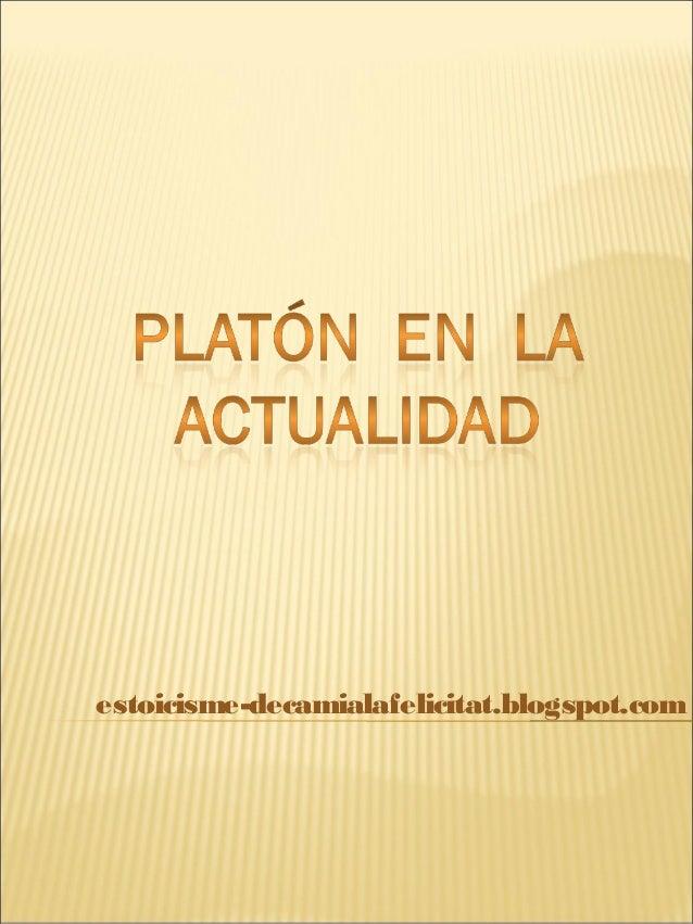 Platón en la actualidad