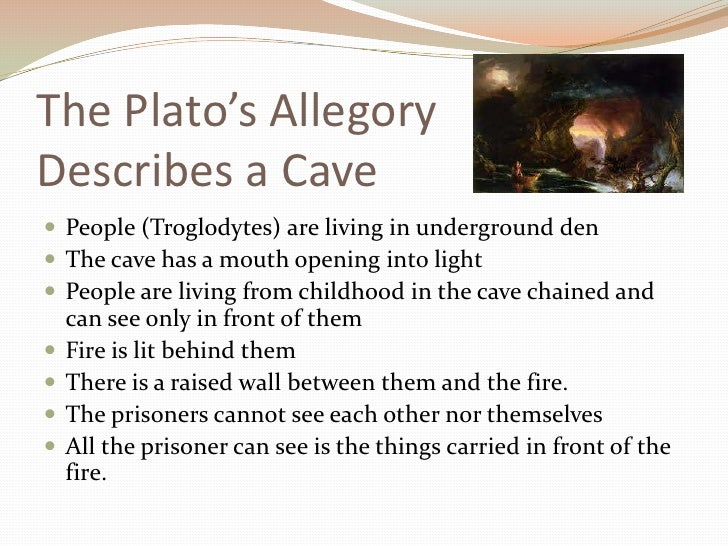 """allegory of the cave 3 essay Free essay: analysis of the allegory of the cave plato's """"allegory of the cave"""" presents a visualization of people who are slaves that have been chained in."""