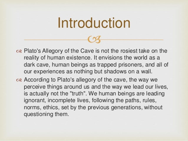 Allegory of the cave essay