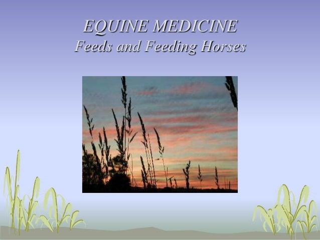 EQUINE MEDICINE Feeds and Feeding Horses
