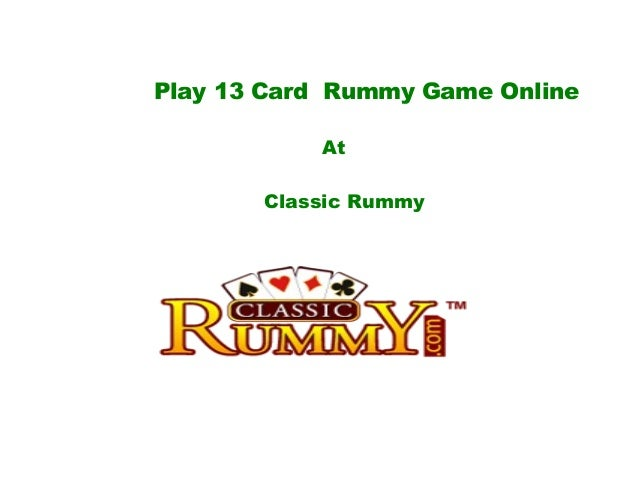 play rummy card game online