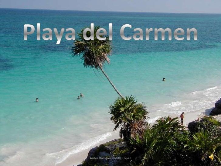 Playa del carmen con sonido narrado