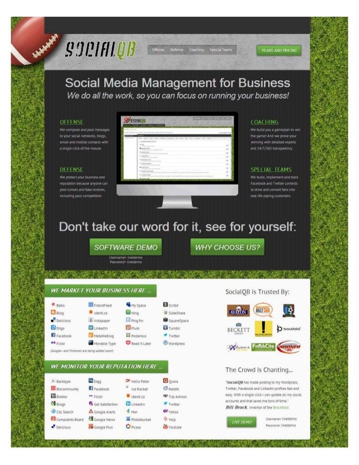 Social Media Marketing, Monitoring and Management Playbook