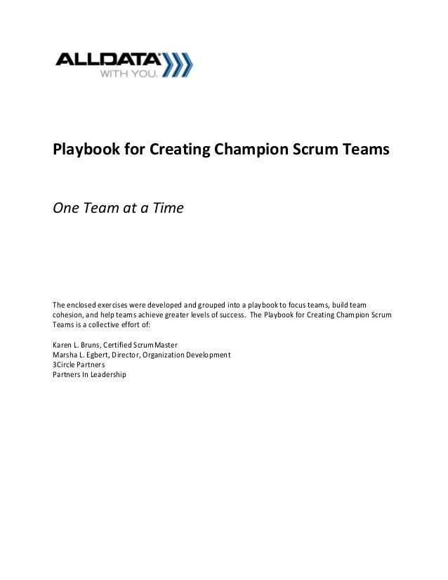 Playbook for building champion scrum teams 2012 karen_l_bruns_marshalegbert