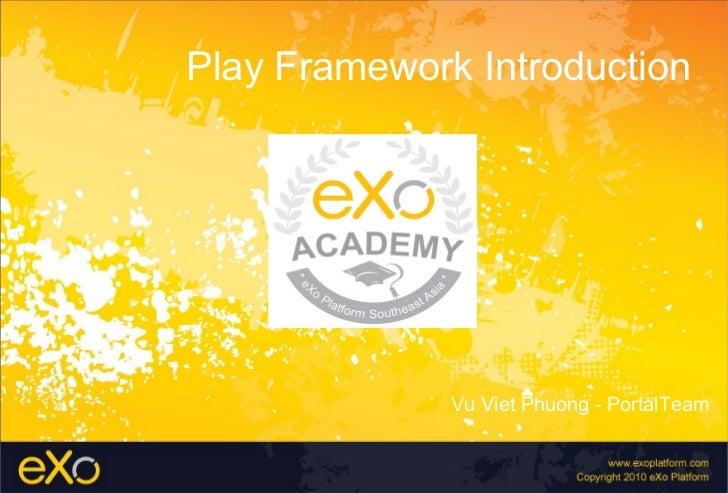 eXo Platform SEA - Play Framework Introduction