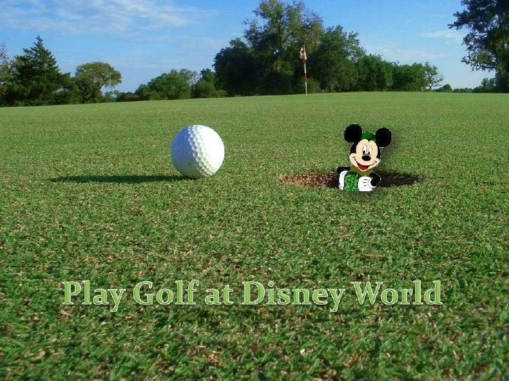 Play Golf at Disney World