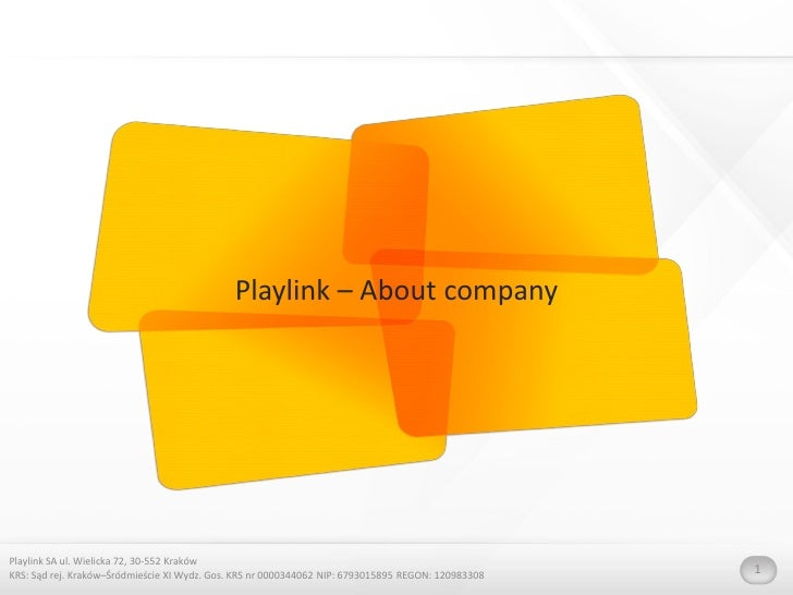 Playlink About The Company And Services