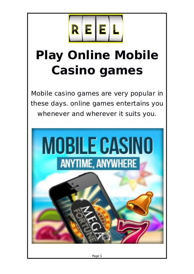 online mobile casino start games casino