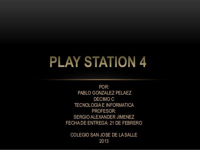 POR:    PABLO GONZALEZ PELAEZ            DECIMO C   TECNOLOGIA E INFORMATICA           PROFESOR:   SERGIO ALEXANDER JIMENE...