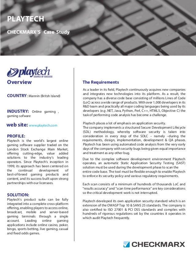 Case Study: How Playtech integrates Checkmarx for a secure SDLC
