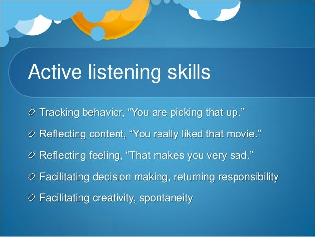 my listening skills reflection Reflection on study skills listening skills as i often find in reflection to improve and refine my study skills critical self-reflection refers to analysing.