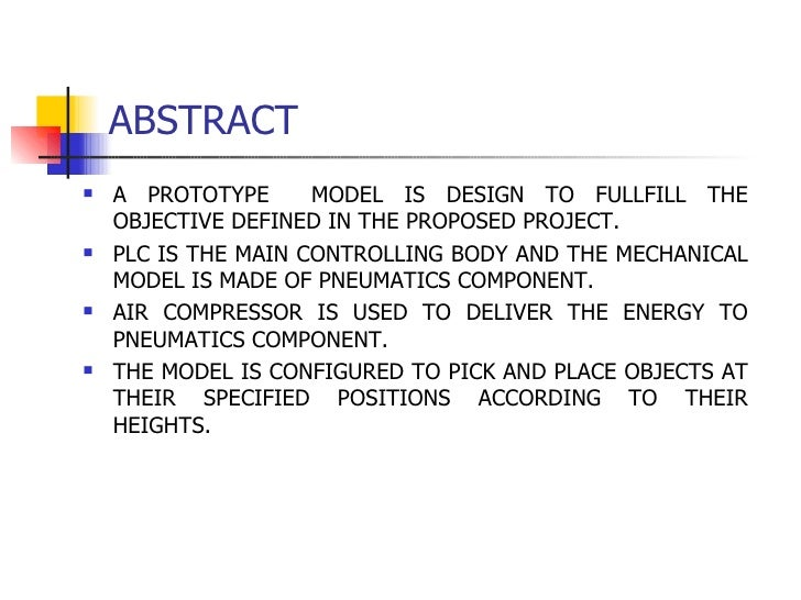Abstract in a paper