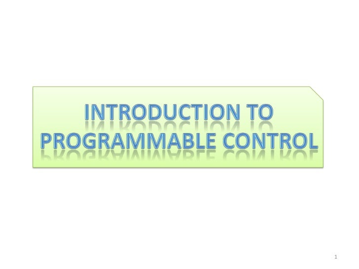 Plc (introduction and logic)
