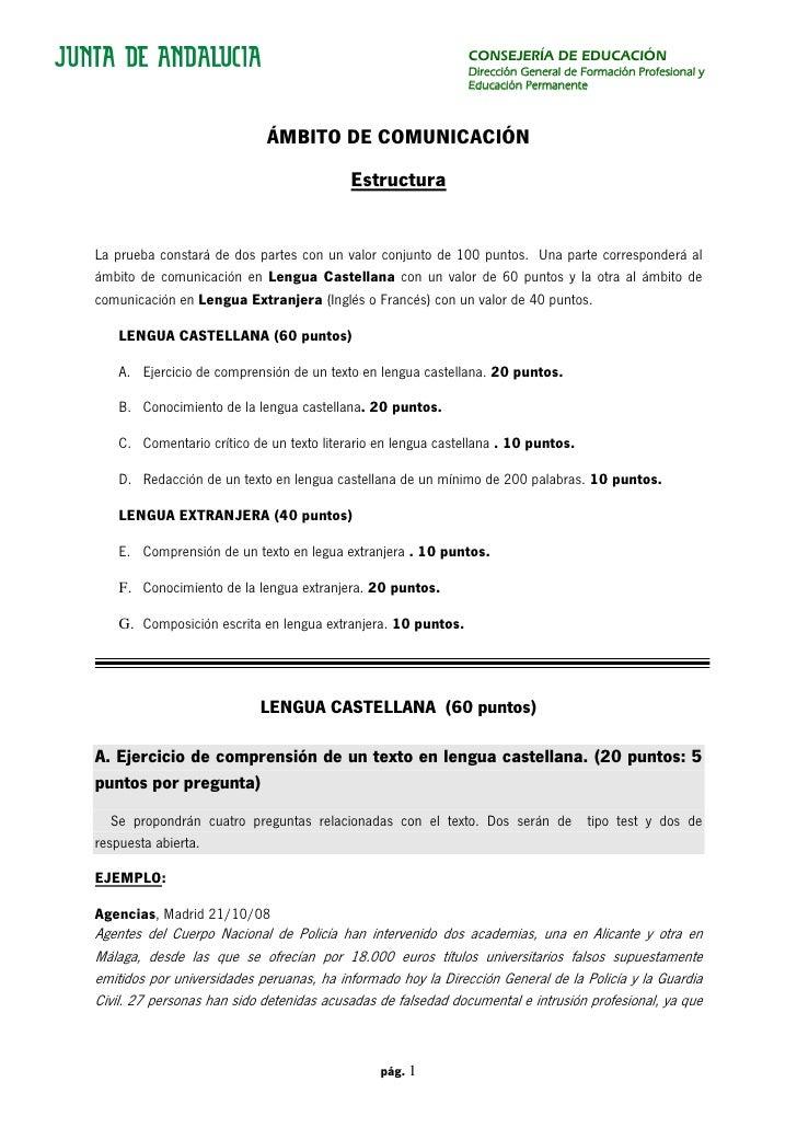 CONSEJERÍA DE EDUCACIÓN                                                              Dirección General de Formación Profes...